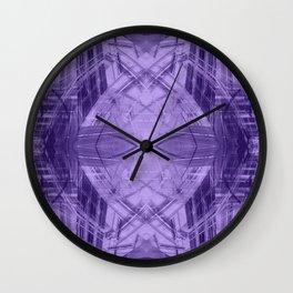 Violet pattern Wall Clock