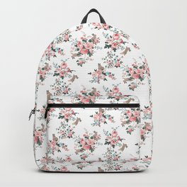 French Flowers and Bunnies Backpack