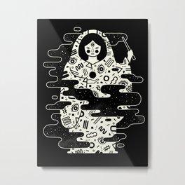 The Magician: Black Magic Metal Print