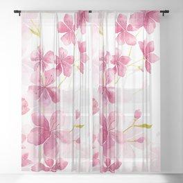 Cherry blossom Sheer Curtain