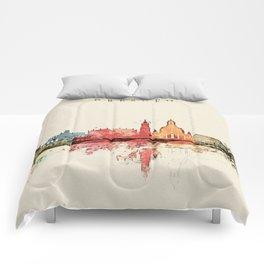 Dresden City Skyline Comforters