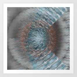 Abstract blue grey Art Print