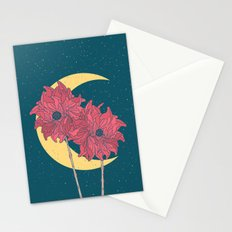 Midnight Flowers Stationery Cards
