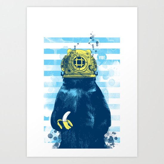 Wild Diver Art Print