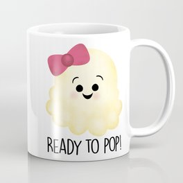 Ready To Pop - Popcorn Pink Bow Coffee Mug