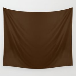 Best Seller Colors of Autumn Dark Hazelnut Brown Solid Color - Accent Shade / Hue Wall Tapestry