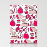 meat Stationery Cards featuring Meat by Rot Rabbit
