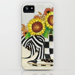 Sunflower Tea iPhone Case