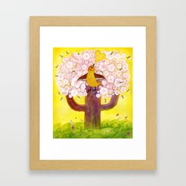 morning song, original watercolour Framed Art Print