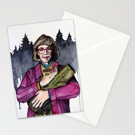 Twin Peaks Log Lady Stationery Cards