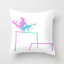 Gymnast - Bars Throw Pillow