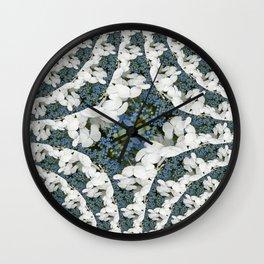 Hydrangeas - White & Blue Floral Wall Clock