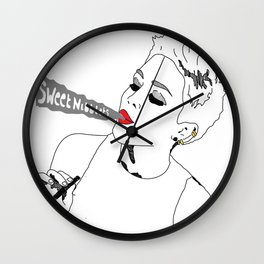 Sweet Nibblets in white Wall Clock