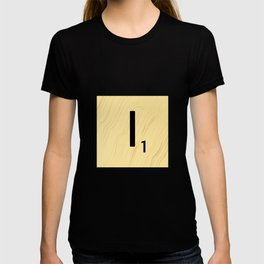 Scrabble I Decor, Scrabble Art, Large Scrabble Tile Initials T-shirt