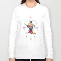 hindu Long Sleeve T-shirts featuring Ganesha: Hindu God of good luck by IDigType