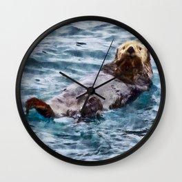 Happy Otter Wall Clock