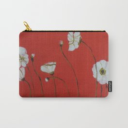 Asian White Poppies Carry-All Pouch