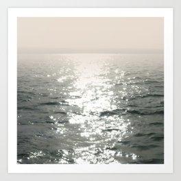 Waterscape. Reflected Sunbeams Art Print