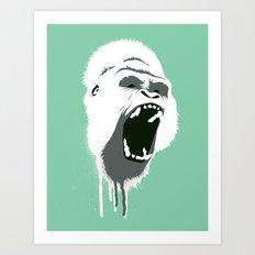 Gorilla Head Art Print