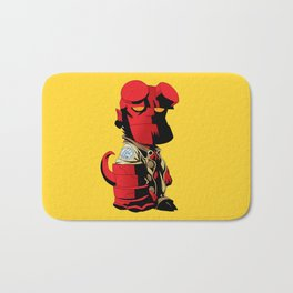 The Hero From Hell Bath Mat