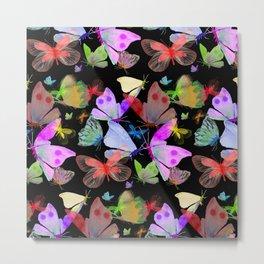 Mariposas de colores Metal Print