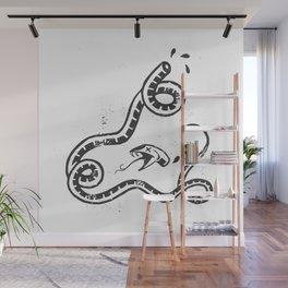 Crushed Serpent (Black) Wall Mural