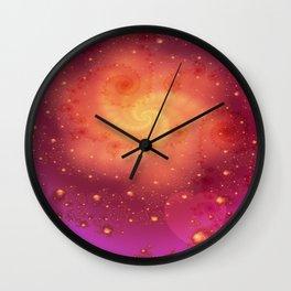 Fractal Art- Heart Art- Lover's Art- Heart Bursts Wall Clock