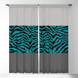 Urban Jungle - Zebra Pattern Blackout Curtain