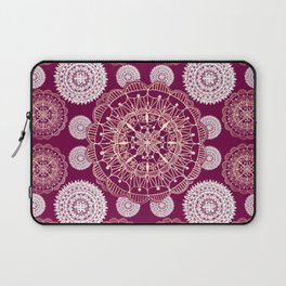 Berry and Bright Patterned Mandalas Laptop Sleeve