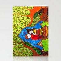 pocahontas Stationery Cards featuring Pocahontas by Sandra Nascimento
