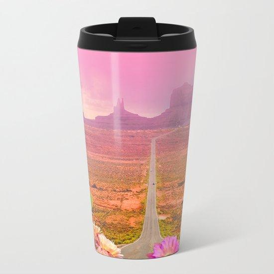 Road landscape Metal Travel Mug