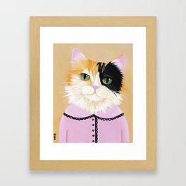 Portrait of Marie the Calico Cat Framed Art Print