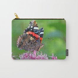 Red Admiral on a flower Carry-All Pouch