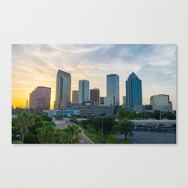 Sunset at Tampa Canvas Print