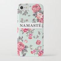 namaste iPhone & iPod Cases featuring Namaste by Rambutan Designs