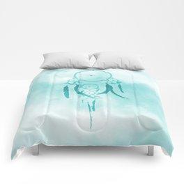 Aqua DreamCatcher Comforters