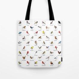 50 State Birds (White) Tote Bag