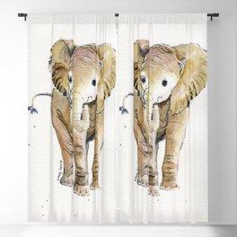 Baby Elephant 4 Blackout Curtain
