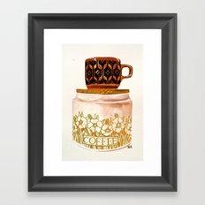 Hornsea stack Framed Art Print
