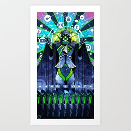 NEO-GODS : God of Social Networks Art Print
