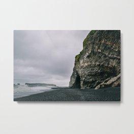 Reynisfjara Beach Cave Metal Print
