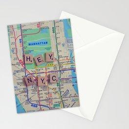 New York City, NYC Map, Subway, Travel Stationery Cards
