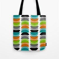 mid century modern Tote Bags featuring Mid-Century Modern Geometric by Kippygirl