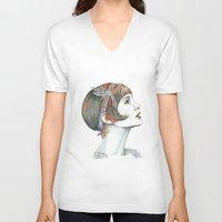 gatsby V-neck T-shirts featuring Carey Gatsby by ShayMacMorran