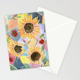 Sunflowers Art Deco Stationery Cards