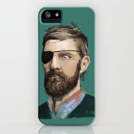 Hipster Pirate iPhone Case