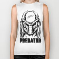 predator Biker Tanks featuring Predator by OneAppleInBox