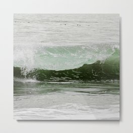 Catch a green wave Metal Print