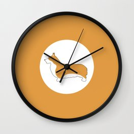corgi pride  Wall Clock