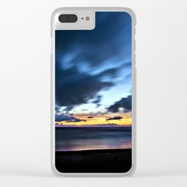Nocturnal Cloud Spectacle on Danish Sky Clear iPhone Case